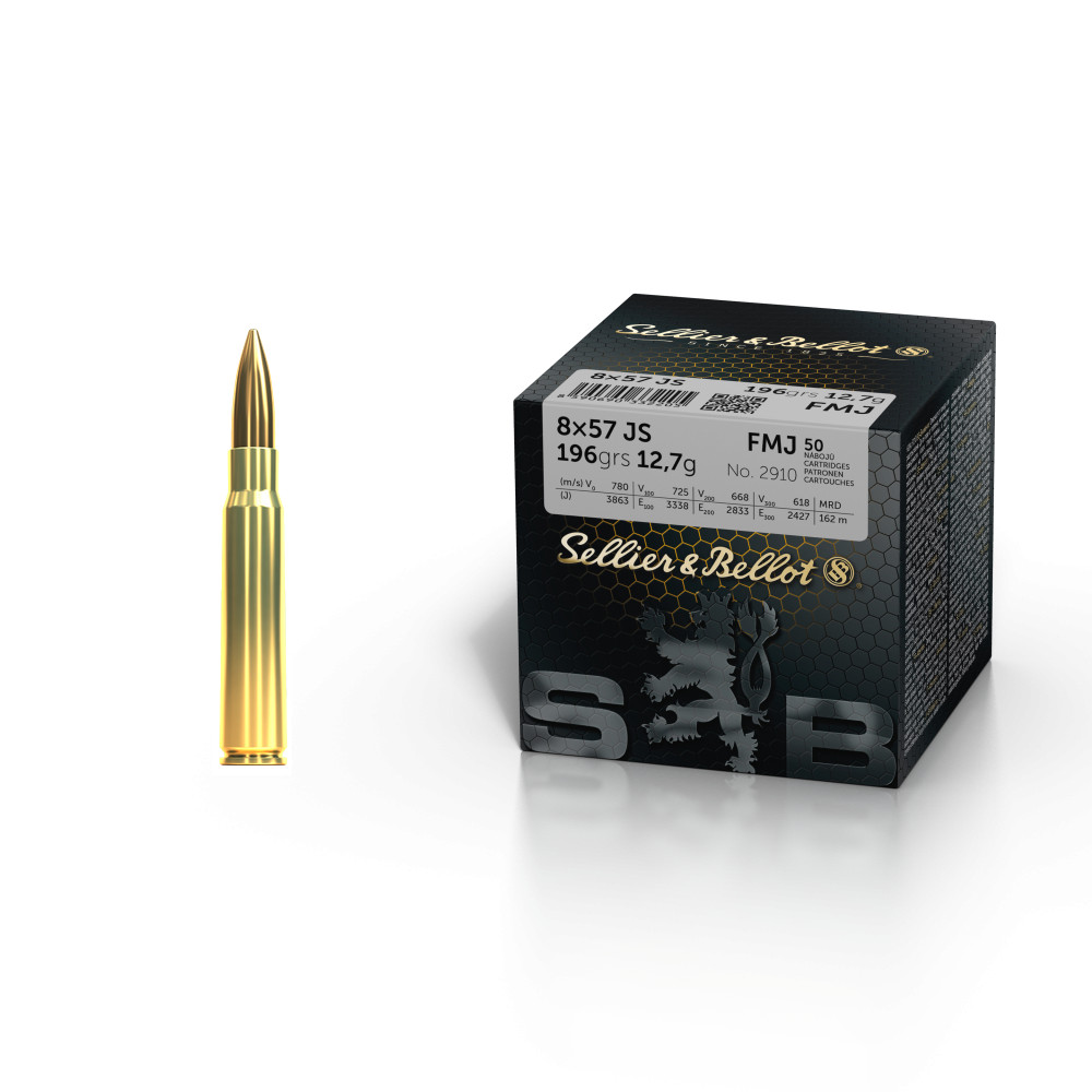 SELLIER BELLOT 8x57 JS FMJ 12,7g 50ks