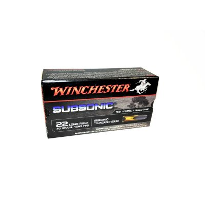 WINCHESTER .22LR SUBSONIC TRUNCATED SOLID 42gr 50ks