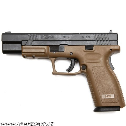 Samonabíjecí pistole HS-9 TACTICAL 5 BROWN