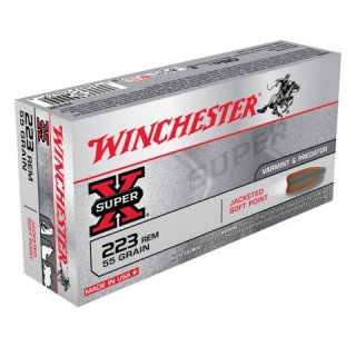 WINCHESTER 223 REM  55gr SUPER-X JACKETED SOFT POINT