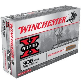 WINCHESTER 308WIN 150gr SUPER-X POWER POINT