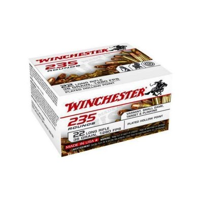 WINCHESTER .22 Long Rifle HOLLOW POINT 235ROUNDS 36gr