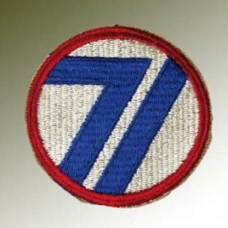 Nášivka US Army 71th Div., WW II