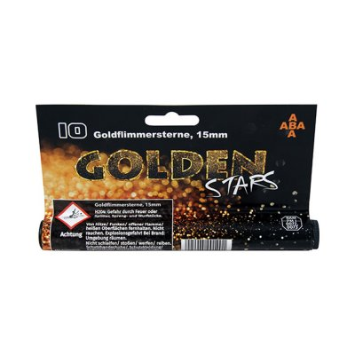 Světlice GOLDEN STARS 15mm tuba 10ks